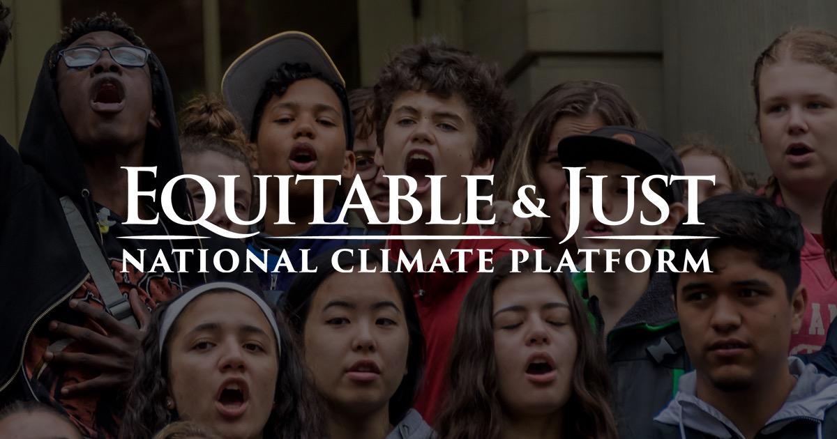 a vision for an equitable and just climate future